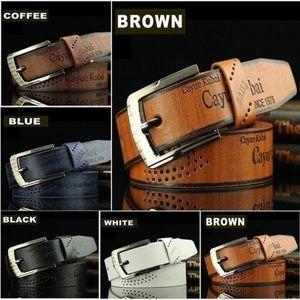 Lot of 5 men's belts
